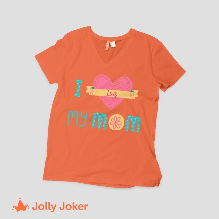 Diseña camisetas para la reunión, evento o regalo de tu mamá. En Jolly Joker puedes agregar texto, color, imágenes y hacer que tu camiseta quede tal y como la quieres :D