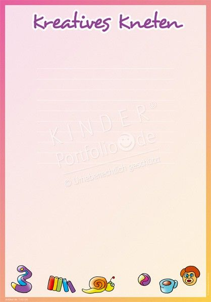 Kreatives Kneten - Portfoliovorlage