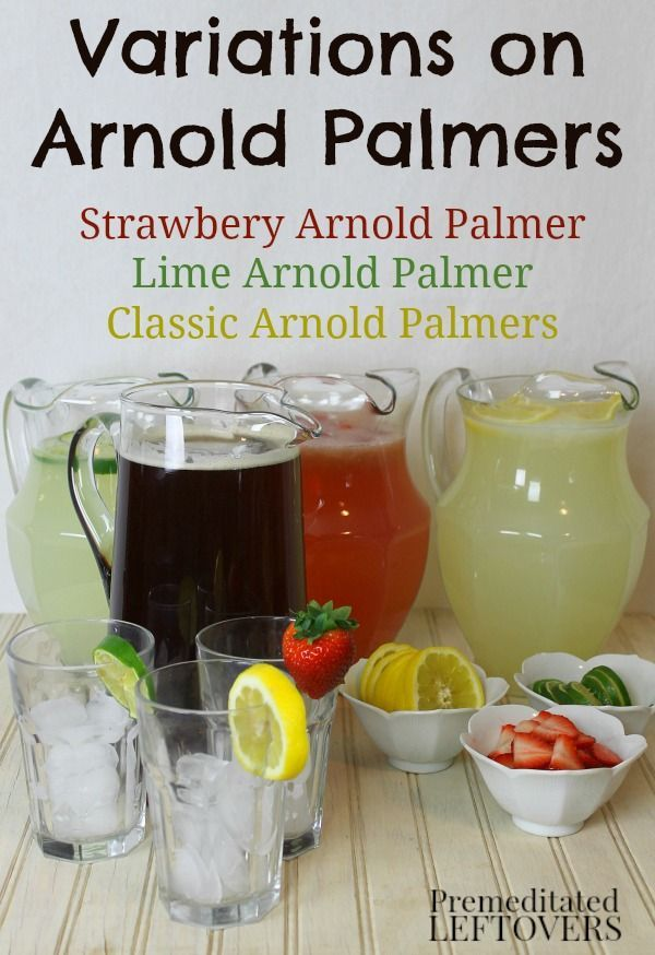 Do you like the Arnold Palmer Drink Recipe of half iced tea and half lemonade? Then you will love these Delicious Variations on Arnold Palmers! #BrightBites #ad