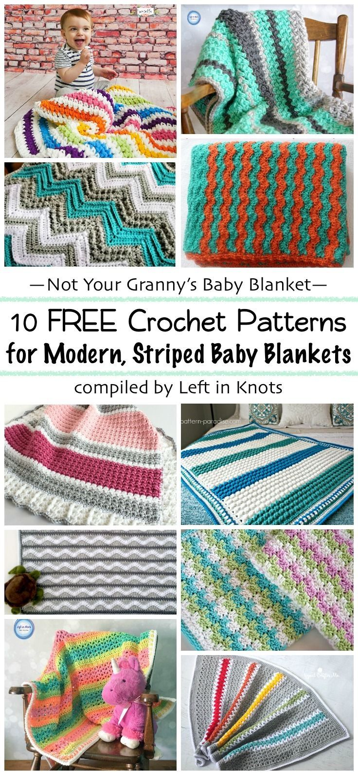 best crochet  free blanket and afghan patterns images on  -  free crochet patterns for striped baby blankets