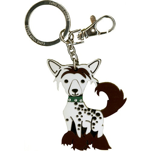 Our Price $7.99  ID: 201200013379  Chinese Crested Keychain: Carry a miniature of your favorite breed wherever you go with a Love Your Breed Acrylic Keychain! These keychain pups feature a rhinestone studded collar and a lobster-claw clip. Use them for your keys or to accessorize your bags by clipping these to different loops and straps.  http://www.calendars.com/dbs/Chinese-Cresteds/Chinese-Crested-Keychain/prod201200013379/?categoryId=cat10127=cat10127