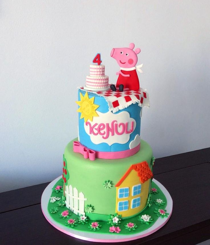 354 best Peppa Pig Cakes images on Pinterest Birthday cakes