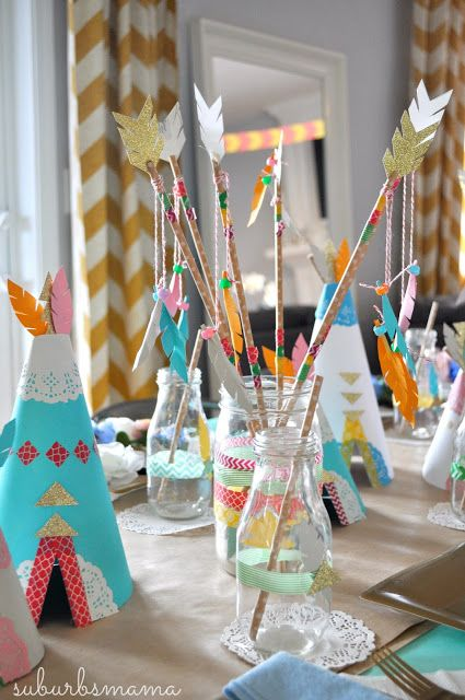beautiful colorful tablescape for kids' party