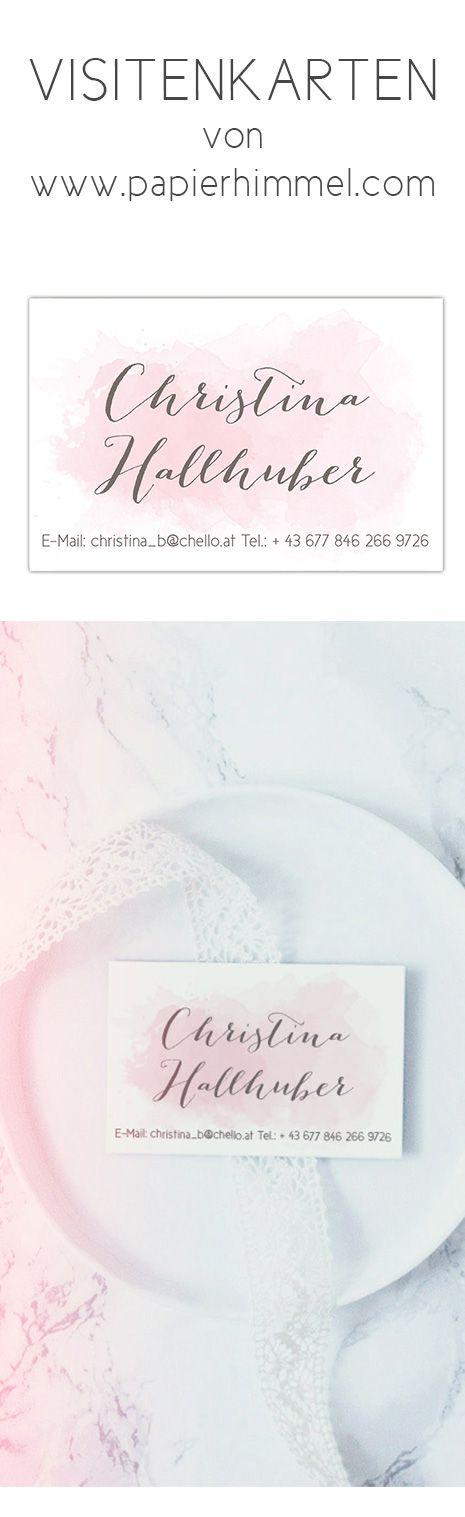 #visitenkarten #visitenkarte #businesscard #office #büro #work #geschenk #personalisierbar #druck #drucksachen #desk #work #selbstständigkeit #selbstständig #business #online bestellen #design #vorlagen #rosa #watercolour #wasserfarbe