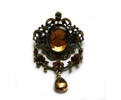Vintage brošňa cameo. Vintage brooch. #womanology #jewelry #accessories #vintagebrooch