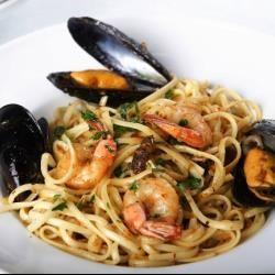 spaghetti with seafood @ allrecipes.com.au made by me!!
