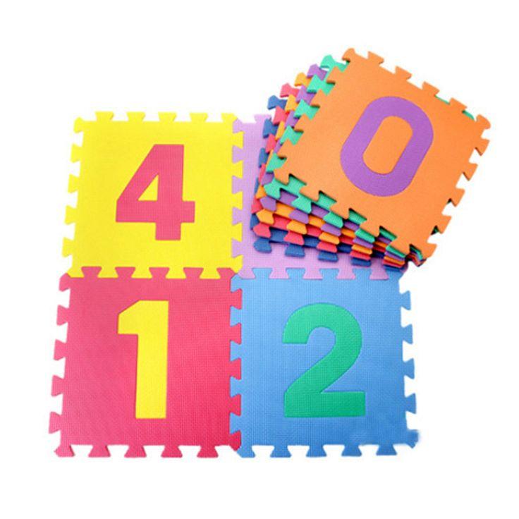 ホット販売赤ちゃんプレイマット10ピース/セットパズルカーペット開発敷物フロアパズルマットeva子供発泡カーペットモザイク床子