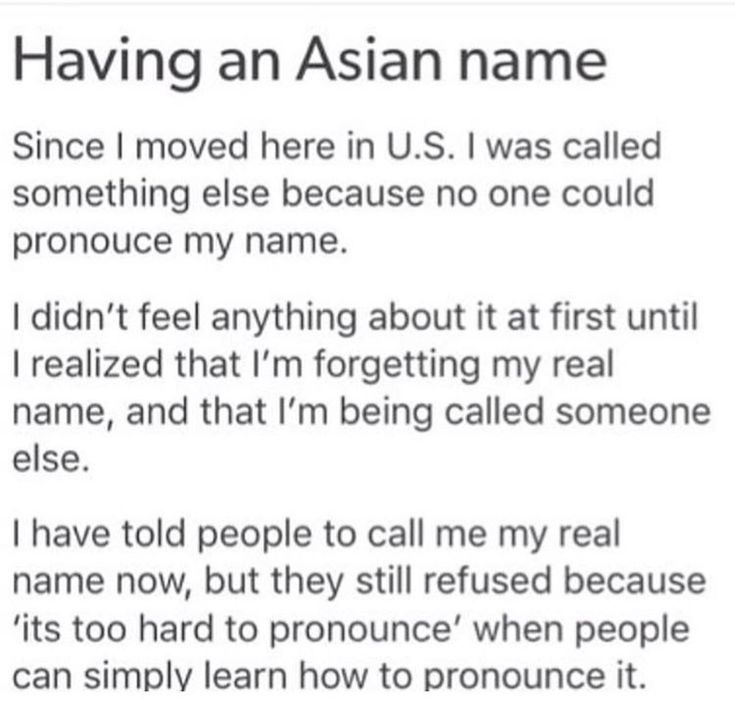 My anthropology professor is Korean, and she told us how her colleagues can't even say it, and it just broke my heart