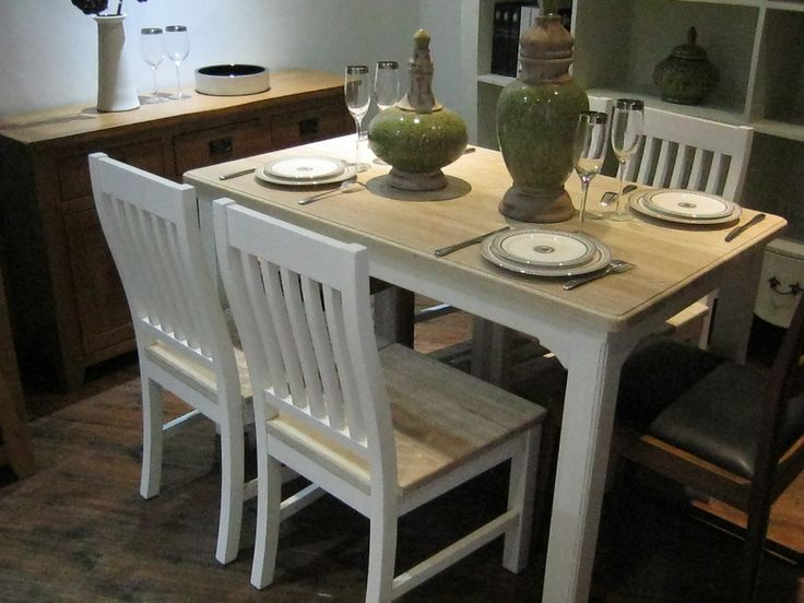 Amazing White Shabby Chic Dining Table And Chairs For Desire U2013 The .