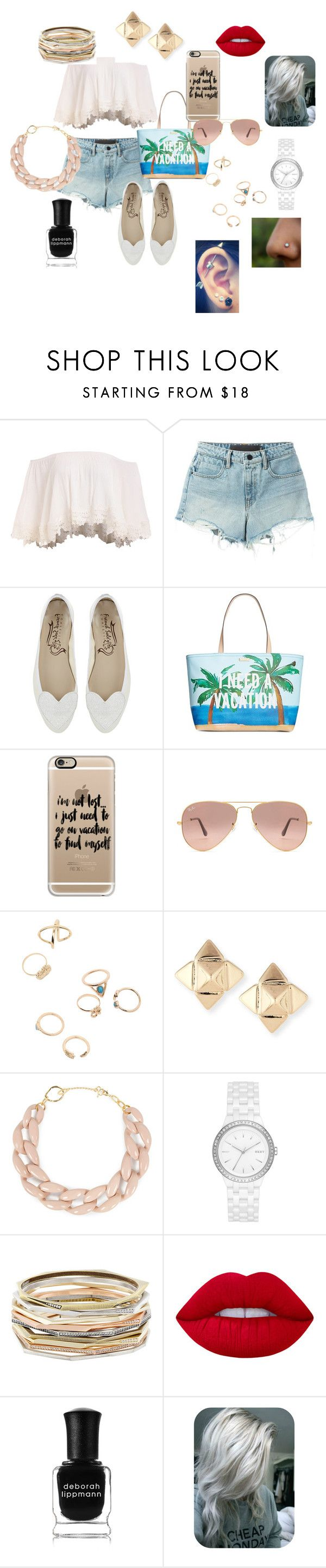"""""""Valeria!"""" by manuelahs on Polyvore featuring moda, T By Alexander Wang, Kate Spade, Casetify, Ray-Ban, Valentino, DIANA BROUSSARD, DKNY, Kendra Scott y Lime Crime"""