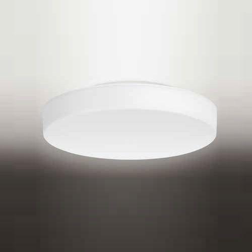 Plafon Luminária em alumínio, com difusor em vidro soprado acetinado f