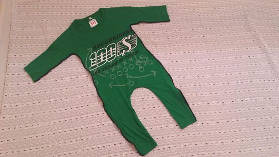 Saskatchewan Roughriders Fan Tee Romper Toddler size OOAK