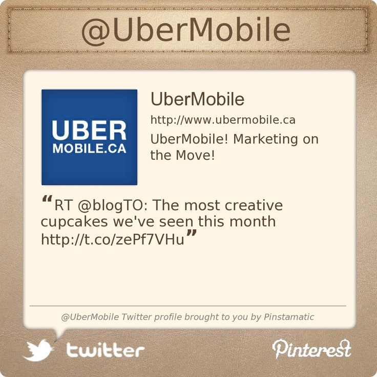 @UberMobile's Twitter profile Marketing on the Move!