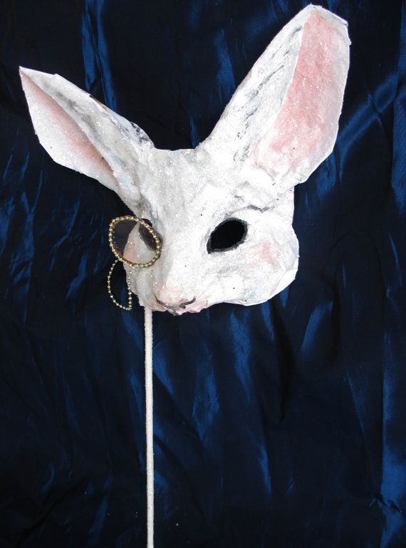 Fairytale Mask White Rabbit FREE SHIPPING by FairytaleStore, $55.00