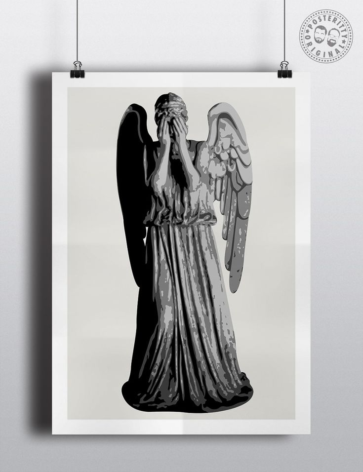 #minimalist #poster #posteritty #tv #minimalposter #original #print #weepingangel