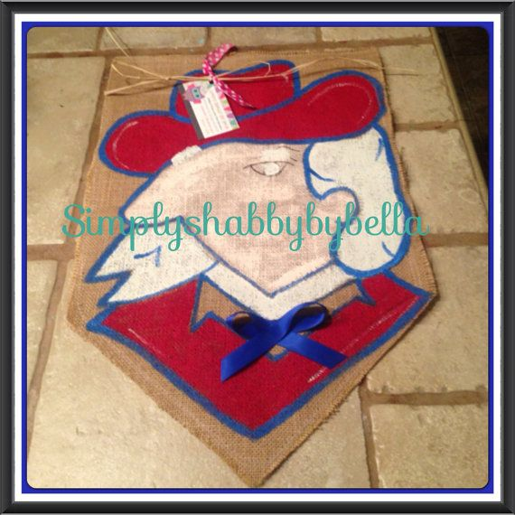 Burlap garden Flag Ole Miss Rebels on Etsy, $20.00