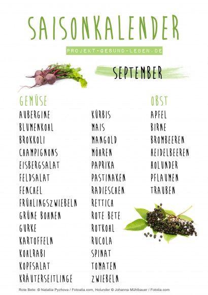 Saisonkalender 09 September. Projekt Gesund leben jpg