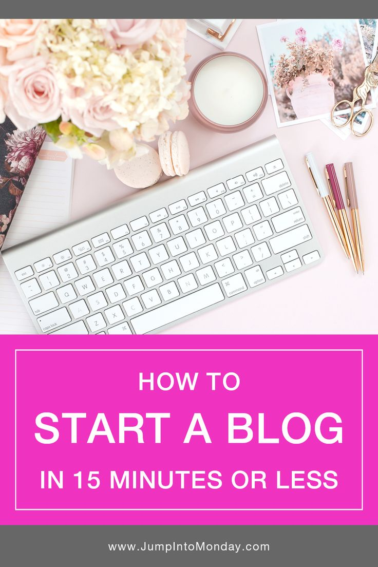 How To Start A Blog In 15 Minutes or Less