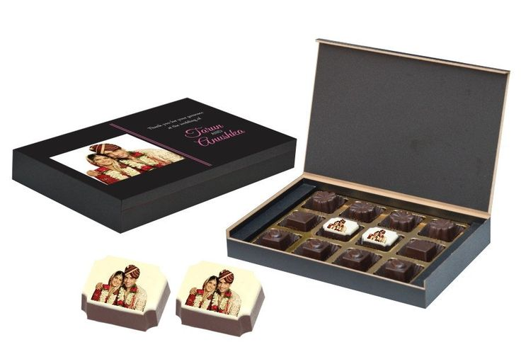 Wedding Return Gifts - 12 Chocolate Box - Middle Printed (10 Boxes)