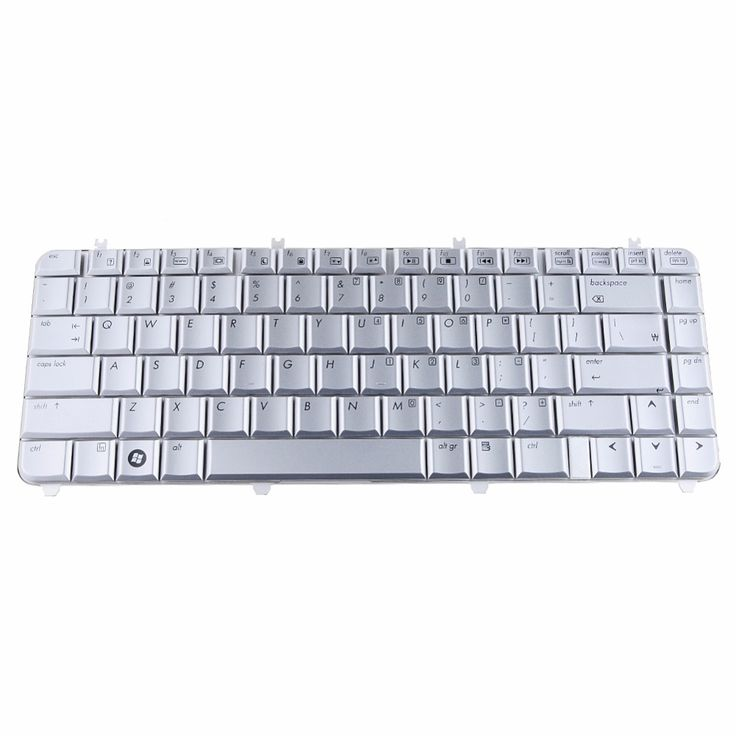 Notebook Computer Replacement Keyboards Fit For Hp Pavilion DV5 DV5-1000 Silver US Laptops Replacement Keyboards