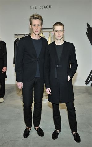Gabriel Mann and Lee Roach at LONDON show ROOMS LA SS14