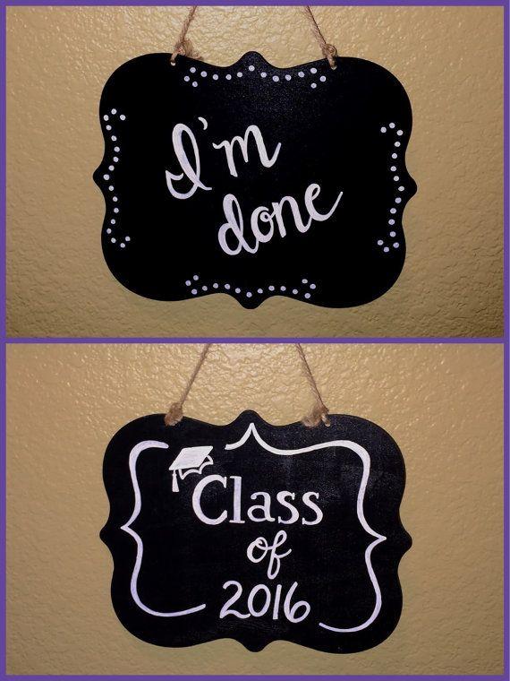 Reversible Senior picture chalkboard photo prop by PattisChalkShop                                                                                                                                                     More