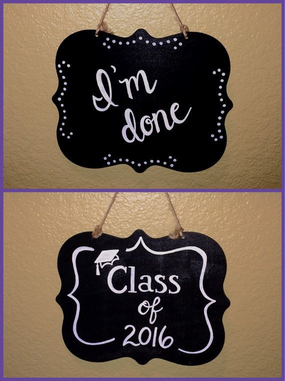 Reversible Senior picture chalkboard photo prop by PattisChalkShop                                                                                                                                                     More