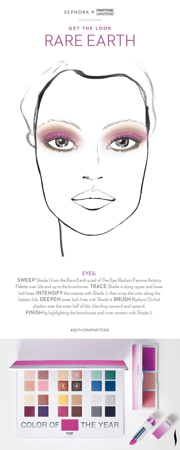 Rich neutrals get a semi-precious twist with this lustrous gradient of tender umbers. Look created with the #Sephora + @PANTONE COLOR COLOR OF THE YEAR Collection. #RadiantOrchid #howto #makeuptutorial #SephoraPantone