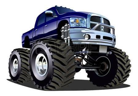 monster truck: Cartoon Monster Truck Illustration