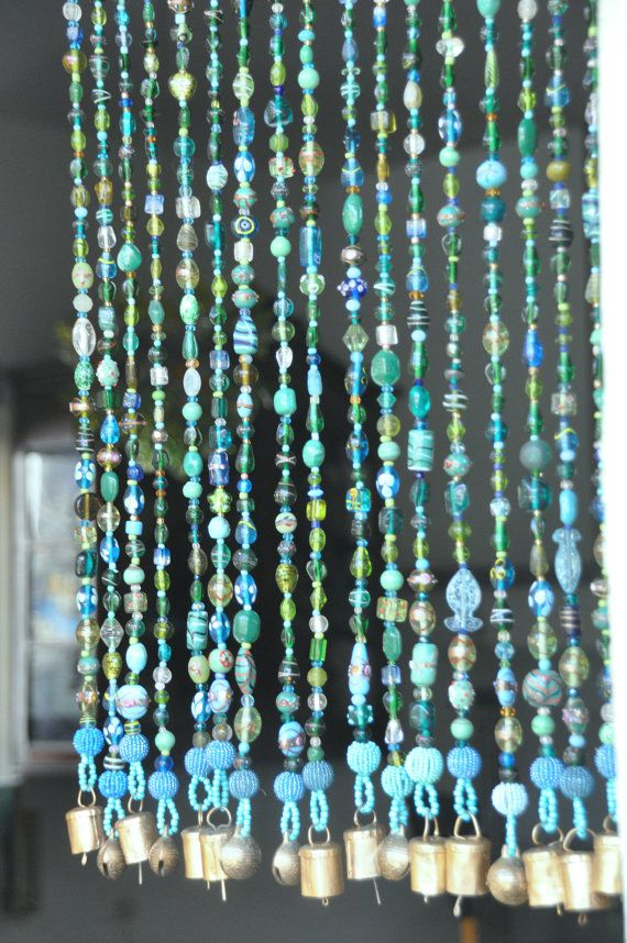 Gardinen Blau Beaded Curtain-custom Order For Laura | Perlen Vorhang