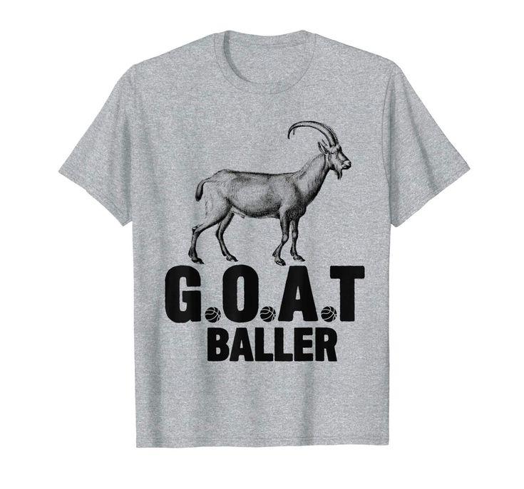 Boys Basketball Funny GOAT Baller Kids Youth Player Gift T-Shirt