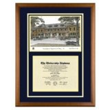 University of California Davis Diploma Frame with UC UCD Lithograph Art PrintBy Old School Diploma Frame Co.