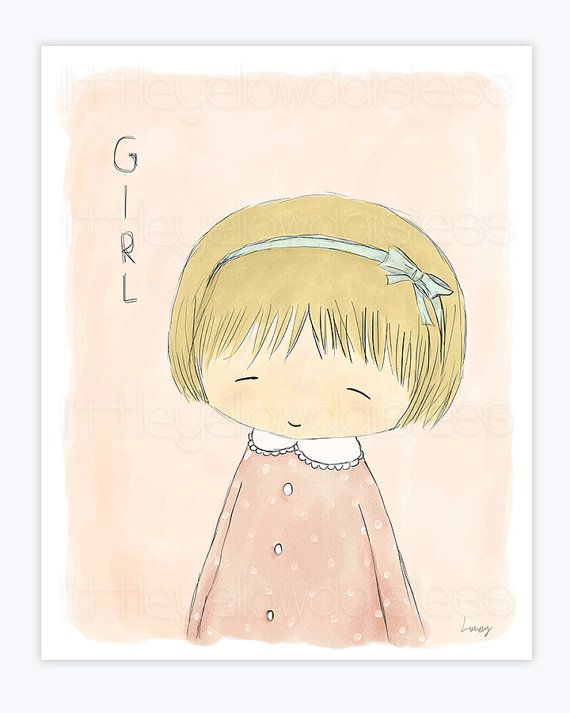 Printable Nursery Art''Girl''Girls Room by LittleYellowDaisiess