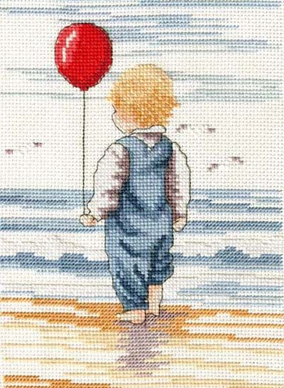 Little Blondie - All Our Yesterdays Cross Stitch Kit By Faye Whittaker