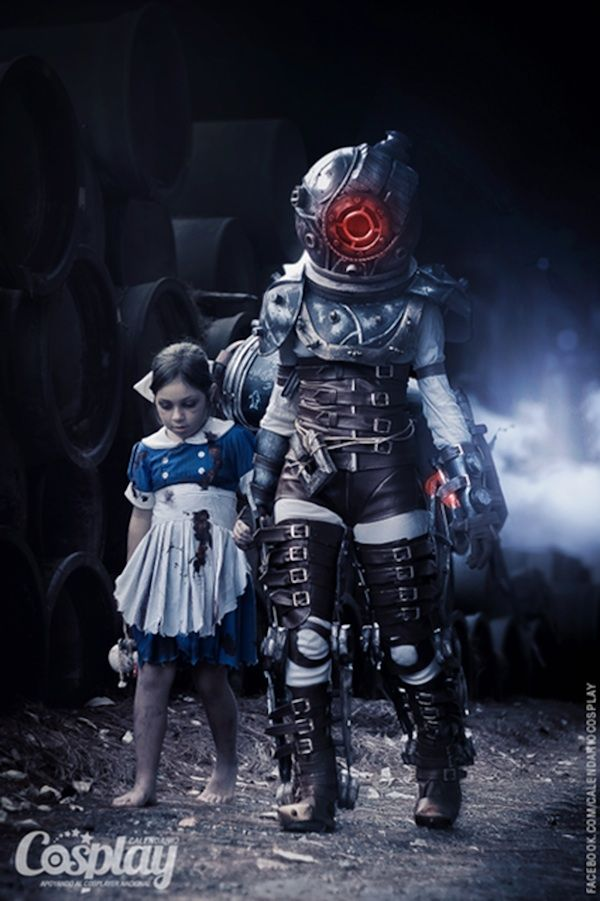 BioShock Sisters - insanely awesome cosplay! Maybe me and @Casey Dalene Reardon can do this next year. I call the Big Daddy!! @Jonathan Nafarrete Eadie  can be a Splicer.