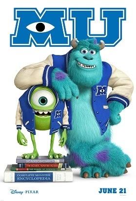 Disney*Pixar's Monsters University New Monsters University Poster Plus Monsters, Inc. 3D Coming Soon!