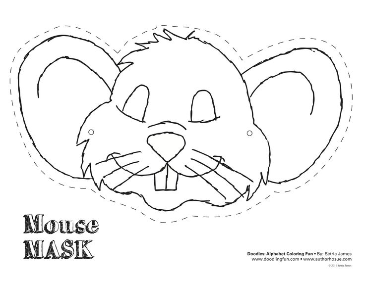 Mouse mask masks and animal masks on pinterest for Printable mouse mask template