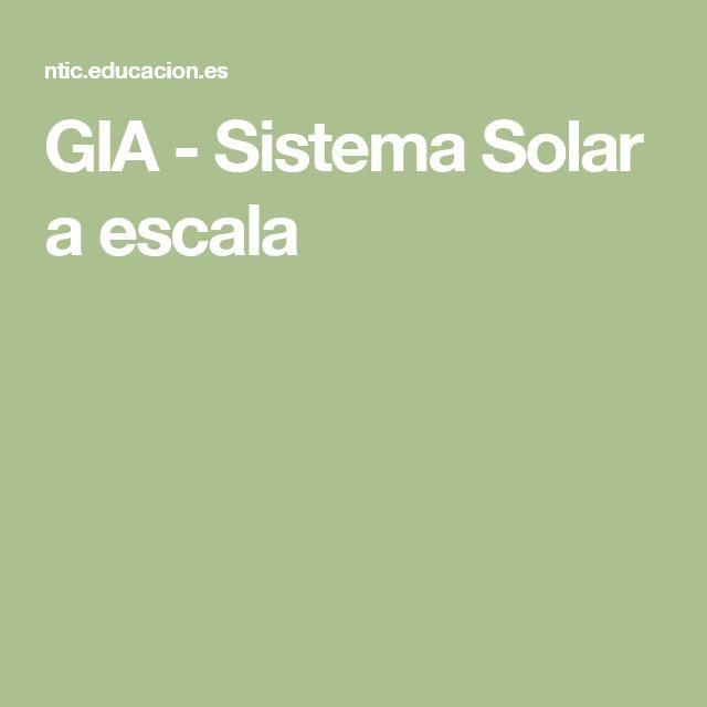 GIA - Sistema Solar a escala