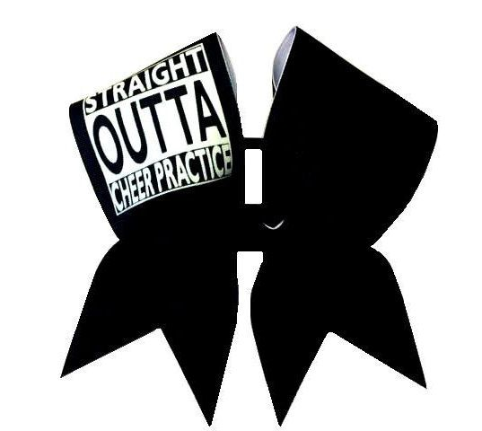 Straight Outta Cheer Practice Cheer Bow by ChosenBows on Etsy