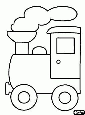 Small steam locomotive coloring page
