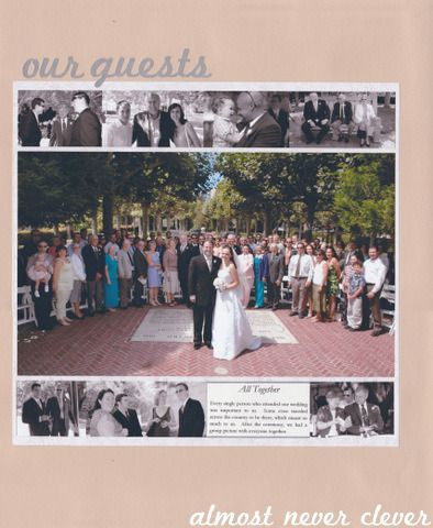Our Guests Wedding Scrapbook Layout 4