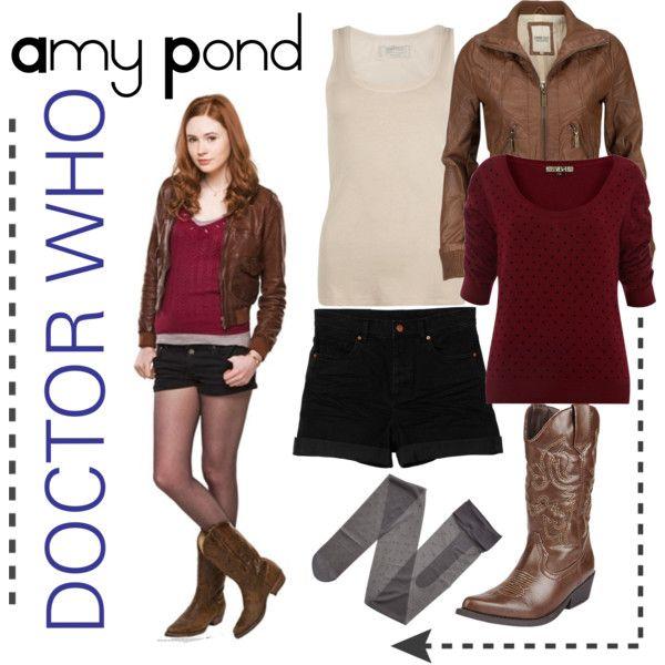 Amy Pond cosplay idea, with longer shorts/pants. I already have a similar jacket.