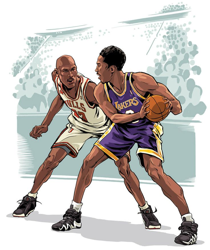 Kobe vs Michael Illustration