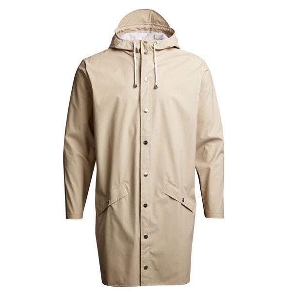 Rains Long Jacket in Sand