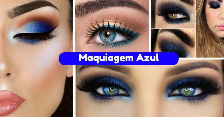 Dicas para Arrasar com Maquiagem Azul - http://webfeminina.com/dicas-para-arrasar-com-maquiagem-azul/