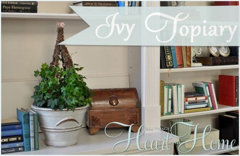 Easy DIY Ivy Topiary » All Things Heart and Home