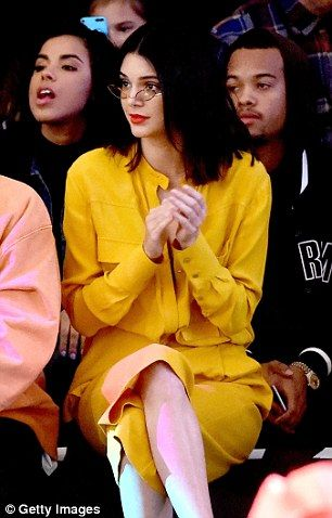 Kendall Jenner shows off her new shorter hairdo with Kanye West at fashion show   Daily Mail Online