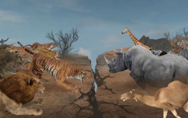 The wild, the world of animals where only the strongest survives according to the law of the jungle! A survival online action game that risks the lives of numerous animals. In Wild Animals Online, you pick one from 20 different animals living in the wild, raise your character to the strongest animal by cooperating and competing with other players from all over the world, and survive in the wild.  https://play.google.com/store/apps/details?id=com.hanaGames.WildAnimalsOnline