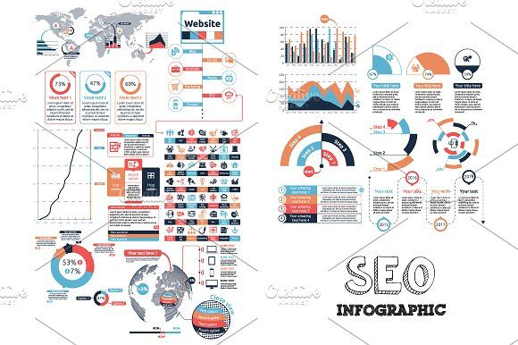 SEO Infographic by Infographic Paradise on @creativemarket