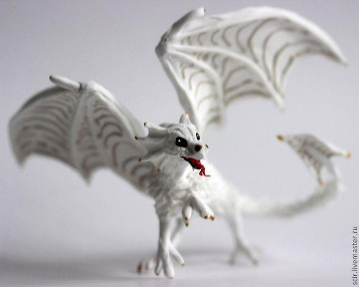 """Купить маленькая фигурка """"Дракончик"""" (дракон игрушка) - белый, дракон игрушка, дракон статуэтка"""